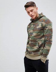 Pull And Bear Pullandbear Hoodie In Camo Green