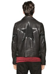 Diesel Cuban Star Smooth Leather Biker Jacket