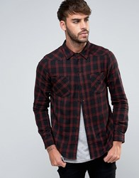 Another Influence Checked Shirt Black