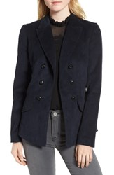 Chelsea 28 Chelsea28 Double Breasted Corduroy Blazer Navy Sapphire