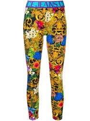 Versace Jeans Couture Jungle Print Branded Leggings 60
