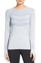 Zella Women's Infrasonic Seamless Top Grey Wolf