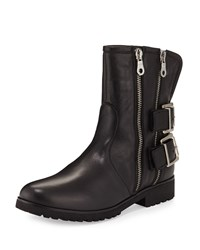 Val Leather Mid Calf Bootie Black Charles David