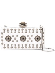 Alexander Mcqueen Heart Frame Box Clutch Women Leather One Size White