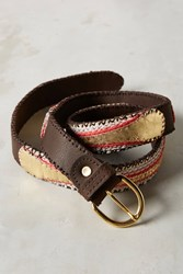 Anthropologie Deco Leather Belt Red