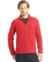 G.H. Bass And Co. Full Zip Mock Neck Arctic Fleece Jacket Chili Pepper