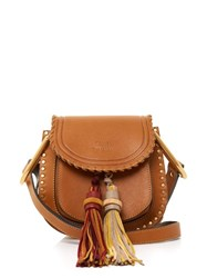 Chloe Hudson Small Tassel Leather Cross Body Bag Tan