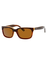 Jack Spade Payne Rectangular Sunglasses Brown