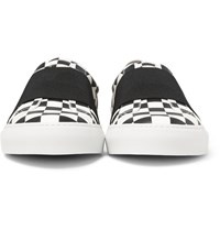 Givenchy Elasticated Strap Checkerboard Leather Sneakers Black
