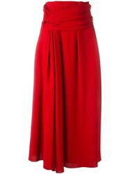 Lanvin Ribbon Wrap Detail Skirt Red