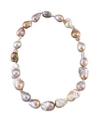 Belpearl 14K Baroque White Freshwater Pearl Necklace 20 L