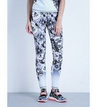 Ted Baker Tenida Blue Bloom Jersey Leggings Pale Blue