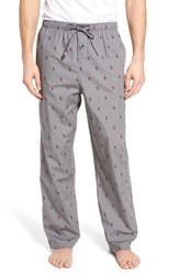 Ralph Lauren Men's Polo Cotton Lounge Pants Marine Grey Classic Wine