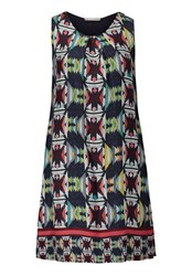 Betty And Co. Printed Shift Dress Multi Coloured Multi Coloured