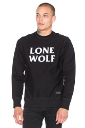 Raised By Wolves Lone Wolf Crewneck Sweatshirt Black And White