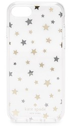 Kate Spade Scattered Stars Iphone 7 Case Silver Gold