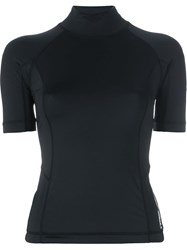 T By Alexander Wang Swim Rash Guard Top Black