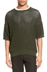 Vince Men's Lattice Stitch Pullover