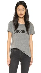 Textile Elizabeth And James Brooklyn Bowery Tee Heather Grey Black