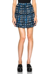 Thakoon Gathered Skirt In Blue Checkered And Plaid