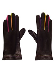 Chesca Leather Glove With Coloured Fingers S Black