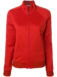 Givenchy Fitted Bomber Jacket Cotton Polyamide Polyester Viscose Red
