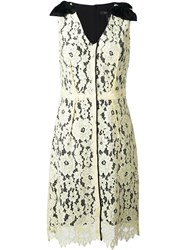 Marc Jacobs Floral Lace Midi Dress Yellow And Orange