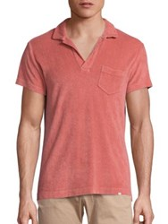 Orlebar Brown Slim Fit Cotton Terry Polo Shirt Rosewood