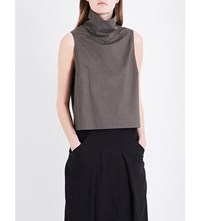 Drkshdw Tabbard Cotton Canvas Top Dark Dust