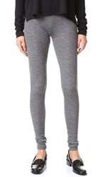Alice Olivia Ronnie Ribbed Leggings Charcoal