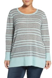Sejour Crewneck Wool And Cashmere Sweater Plus Size Gray