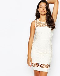 Forever Unique Bandage Body Conscious Dress Ivory