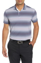 Bobby Jones R18 Tech Diesel Stripe Golf Polo Navy
