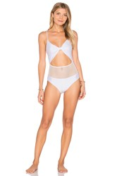 Lurelly Bow Tie One Piece White