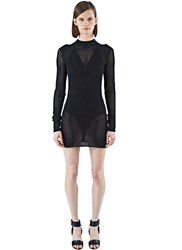 Acne Studios Alca Long Netted Sweater Dress Black
