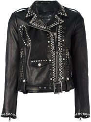 Htc Hollywood Trading Company Studded Biker Jacket Black