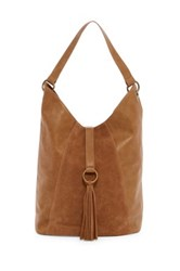 T Shirt And Jeans O Ring Tassel Tote Brown