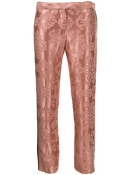 Ann Demeulemeester Floral Embroidered Slim Fit Trousers 60