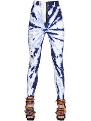 Dsquared Tie Dyed Stretch Cotton Denim Jeans