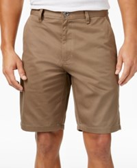 Rvca Men's Weekender Shorts Dark Khaki