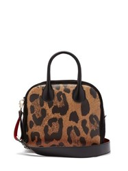 Christian Louboutin Marie Jane Leopard Print Leather And Suede Bag Leopard