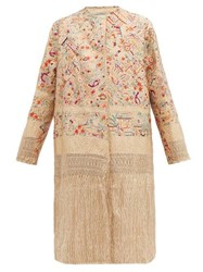 By Walid Tanita 19Th Century Silk Coat Ivory Multi