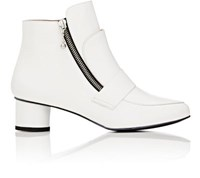 Opening Ceremony Women's Zan Spazzolato Leather Ankle Boots White