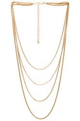 8 Other Reasons Sunrise Necklace Metallic Gold