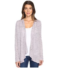 B Collection By Bobeau Leeverne Knit Cardi Lilac Women's Sweater Purple
