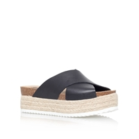 Carvela Kool Flat Platform Slip On Sandals Black