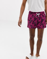 Calvin Klein Abstract Print Swim Shorts Abstract Print Multi
