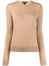Theory Round Neck Jumper Neutrals
