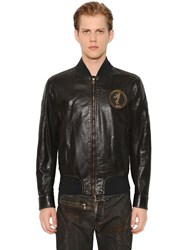 Matchless London Vintage Flag Iron Leather Bomber Jacket