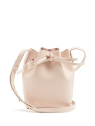 Mansur Gavriel Pink Lined Mini Mini Leather Bucket Bag Light Pink